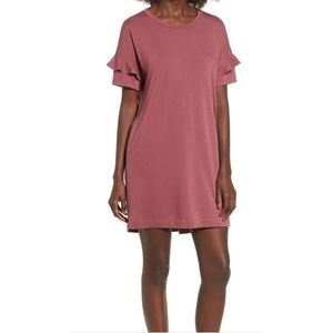 Ruffle Sleeve TShirt Dress